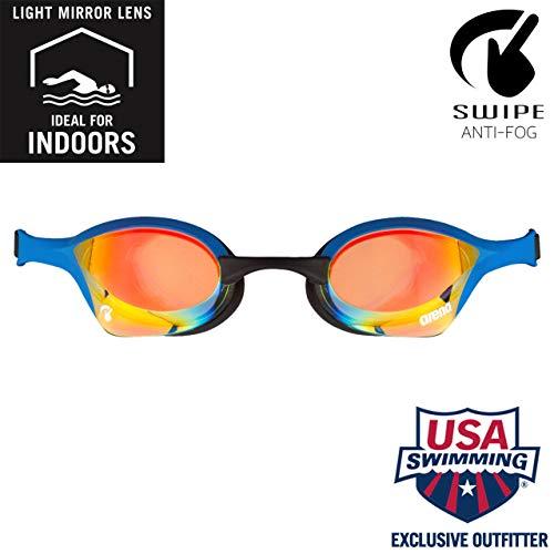ARENA Cobra Ultra Swipe Mr, occhialini da Nuoto Giallo Rame e Blu