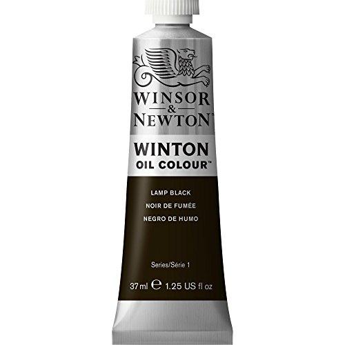 Winsor & Newton 1414337 Winton Oil Color Paint, 37-ml Tube, Lamp Black