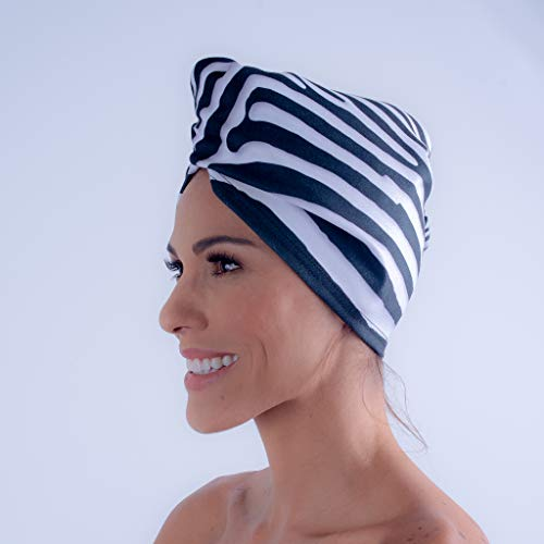 AqkuaTwist Hair Towel & Turban. Ultra Absorbent Hair Towel Anti Freeze Capabilities Light Weight Made with Sport N Care Micro Fiber Tech Compact in Fashionable Design Easy to Use. Made in USA .