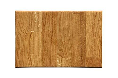 Massivholz Schneidebrett aus Eiche | 30 x 20 cm | 100% Handarbeit in Deutschland | Premium Küchen-Brett, Servier-Brett, Holz-Brett, Eichen-Holz, Schneide-Brett Eiche massiv für Küche