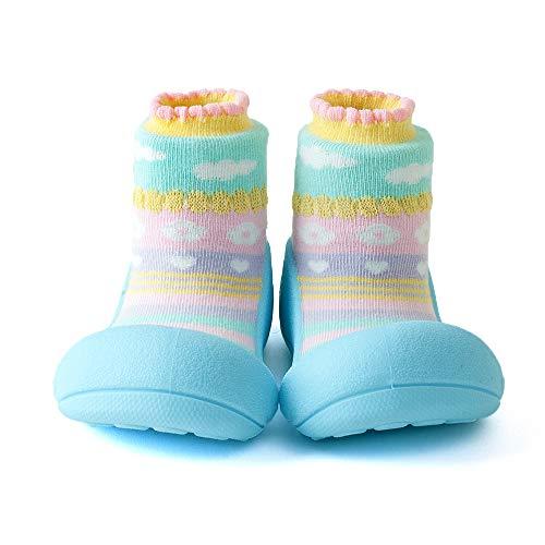 Attipas ATTIBEBE Bleu Taille S Nus Chaussures Bébé Chaussettes Type Premiers Walkers Bébé