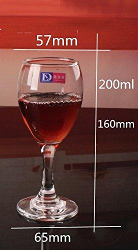 JARONG Vin Rouge Tasse en Verre sans Plomb Pied Haut Tasse Verre Tasse,200Ml