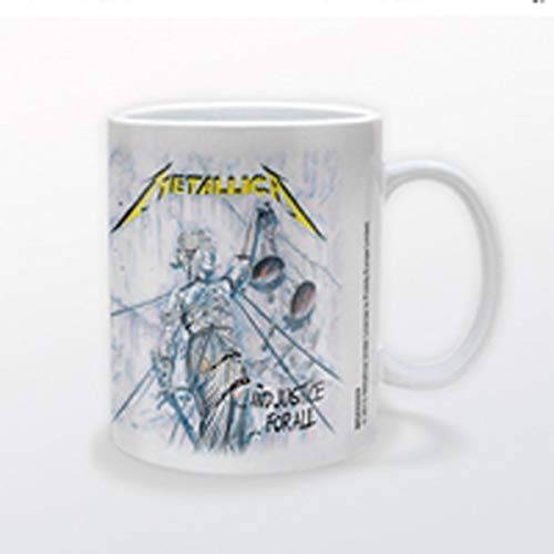 Metallica Pyramid International MG22555 and Justice For All Mug - Taza