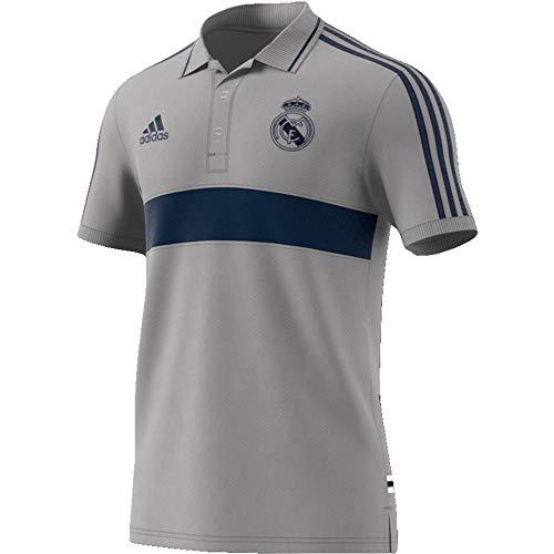 adidas Performance Real Madrid Poloshirt Herren hellgrau/blau, XL