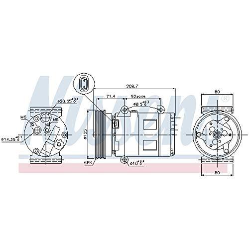 Nissens 89072 Clima compressori