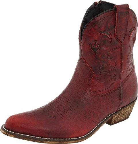 Dingo Women's Prince Street Boot,Red Distressed,9 B US