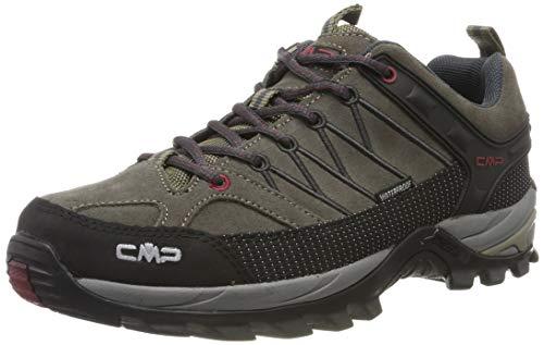 CMP Rigel Low Trekking Shoes WP, Scarpe da Arrampicata Basse Uomo, Beige (Torba-Antracite 02pd), 41 EU