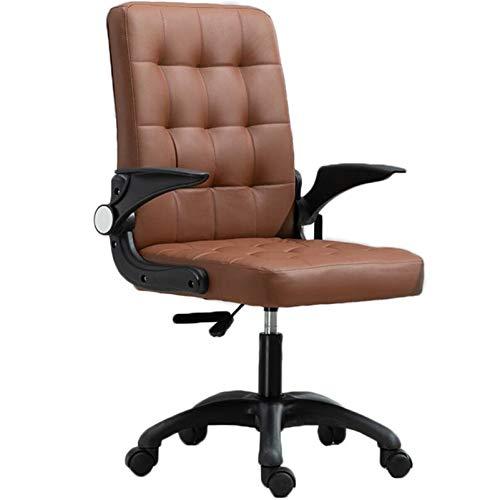 LHDQ Sedia da Ufficio con Schienale Alto Chair Sedia da scrivania Girevole per Computer con poggiatesta e Supporto Lombare, Sedia da conferenza Regolabile ergonomica,Marrone