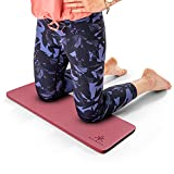 Yoga Knee Pad Cushion Burgundy - Yoga Accessories for Women and Men - Thick Knee Mat for Floor Exercise, Workout, Kneeling Pain - Home, Gym, Travel, Gardening, Cleaning - Kneel Mat