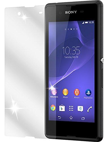 dipos I 2X Schutzfolie klar kompatibel mit Sony Xperia E3 Folie Bildschirmschutzfolie