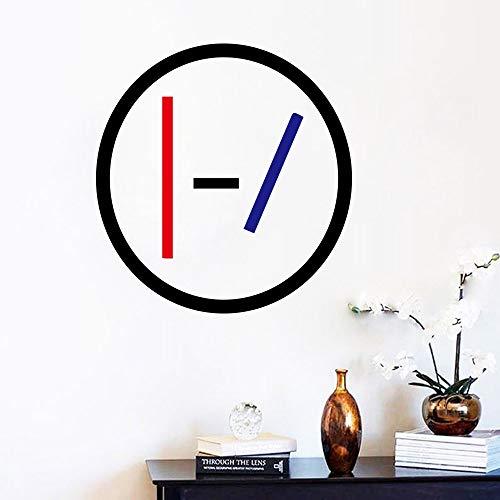 Klassieke vinyl sticker muur sticker voor bar decoratie thuis slaapkamer decoratie muziek band muurschildering poster 43x42cm