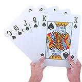PMLAND Super Jumbo 8 x 11 Inch Extra Large Poker Index Playing Cards