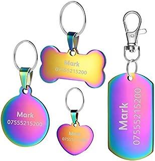 comprar comparacion BKDZ Etiquetas de identificación de Mascotas de Acero Inoxidable Etiquetas de Perro Personalizadas Personalizadas Grabado ...