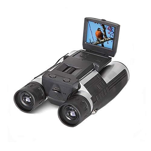 "Eoncore 2"" LCD Display Digital Camera Binoculars 12x32 5MP Video Photo Recorder Digital Camera Telescope for Watching Bird, Football Game with 8GB TF Card"