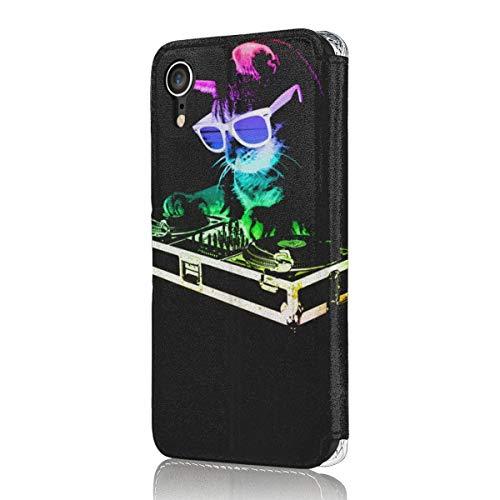 House Cat(レインボーdjキティ) Iphone Xr ケース 手帳型 薄型 軽量 マグネット カードポケット スタンド