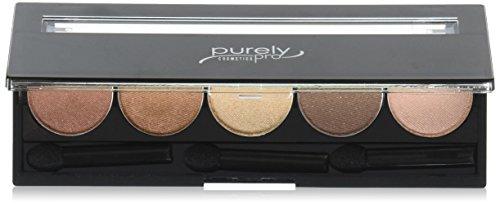 Purely Pro Cosmetics 5 Well Eyeshadow Pallet, Stars in Your Eyes, 0.02 Ounce by Purely Pro Cosmetics