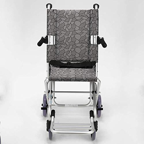 OSL Ancianos Silla de ruedas Plegable Portátil Ancianos Discapacitados Ultraligero Viaje Niños Silla de ruedas Trolley Pequeño Conducir Médico fj OSL