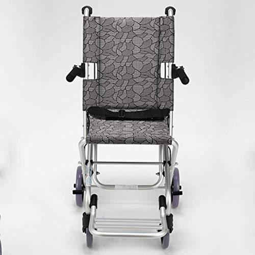 YEESEU Elderly Wheelchair Folding Portable Elderly Disabled Ultra Light Travel Children Wheelchair Trolley Small Driving Medical Fdg