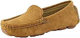 PPXID Girl's Boy's Suede Slip-on Loafers Casual Shoes(Toddler/Little Kid/Big Kid)