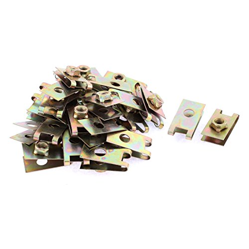 sourcing map 30Uds 32mm X 17,2mm U Tipo Clips Tuercas para