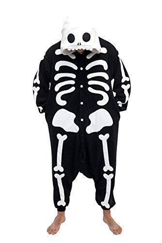 Kigurumi Pyjama Chat de Minuit 2725, Noir, Adultes (1m50 a 1m80)