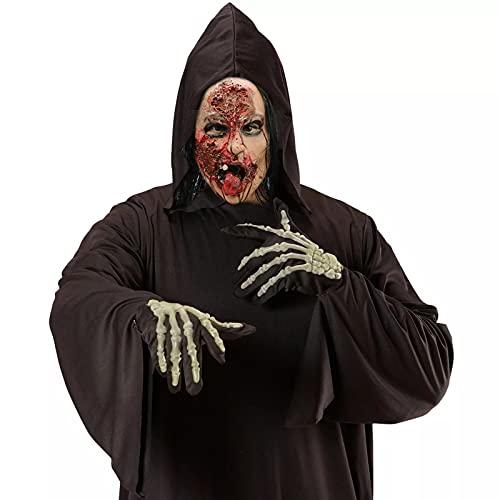 P/K Máscara De Fantasma Sangriento Máscara De Fantasma De Látex Máscara De Terror De Pelo Largo Máscaras De Halloween para Regalo De Fiesta De Cosplay De Halloween, Fiesta De Disfraces