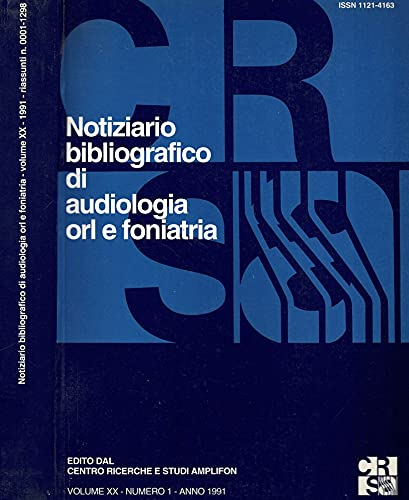 Notiziario bibliografico di audiologia orl e foniatria. Volume XX, numero 1.
