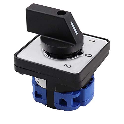 WSCHENG Interruptor de Leva 3 Posición 1 Poste 4 Terminales Interruptor Giratorio 660V 20A Interruptor de Cambio