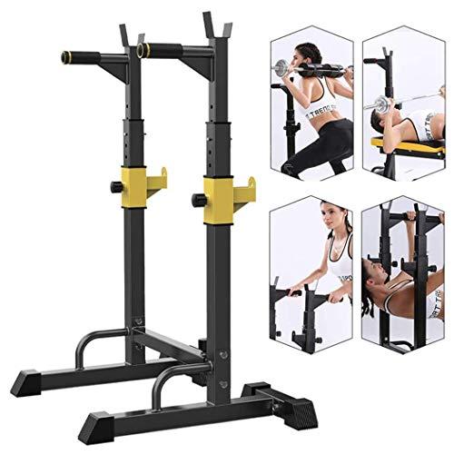 Tcylz Ajustable Peso Bench Fitness Bench Equipo de prensa Hogar y gimnasio Ajustable Squat Squat Stat Soporte de rack, bastidores de peso libre para cama de levantamiento de pesas Inicio Inicio Gimnas