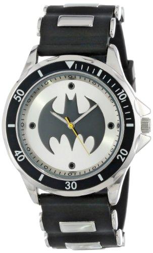 Batman Herren BAT9062 Analog Armbanduhr mit schwarzem Gummiband