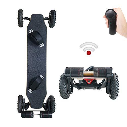 YH-Scooter Skate Eléctrico, Longboard Eléctrico 1650W * 2 Motor 11000mAh batería de...