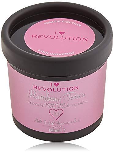 I Heart Revolution Rainbow Tones Pink Universe - semi permanente Haarfarbe und Pflegespülung in einem - auswaschbar mit 8-12 Haarwäschen - vegan, mehrfach verwendbar - 120ml