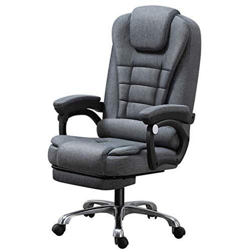 N/Z Tägliche Ausstattung Computerstuhl Home Office Stuhl Verstellbarer Drehstuhl Bequemer Stoff Schreibtischstuhl mit Rückenlehne Ergonomisches Liegedesign