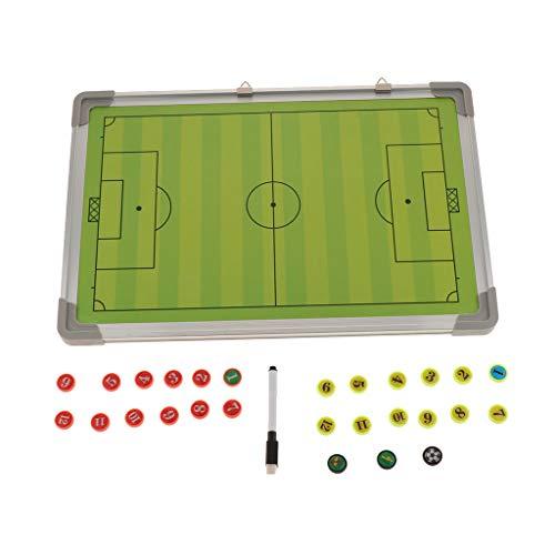 T TOOYFUL Handball Taktiktafel Fussball Coach-Board Coach-Mappe mit Stifte und Magneten
