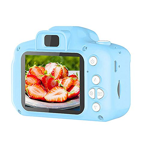 LHNEREGLHNEREG 1080P HD Screen Kids Waterproof Camera, Mini 2.0 Inch USB Rechargeable Digital Camera with 32GB TF Card, Gifts for Boys Girls,Blue