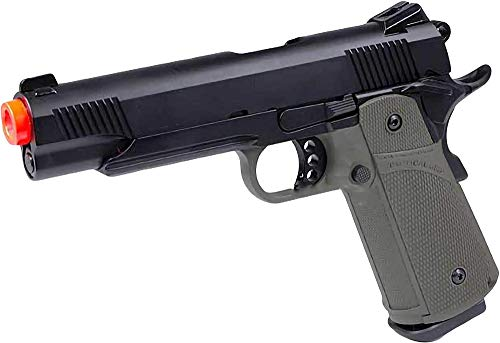 Evike KJW Full Metal Airsoft 1911 Tactical HI-CAPA Gas / CO2 Blowback (Package: OD Green/Pistol)