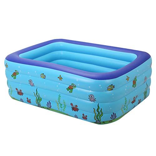 EEUK Kinderpool Baby Planschbecken, Baby Schwimmbecken, Rectangular Baby Pool Planschbecken für Garten Balkon, Baby Outdoor Square Swimmingpools