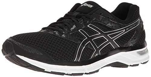 ASICS Men's Gel-Excite 4 Running Shoe, Black/Onyx/Silver, 10 M US