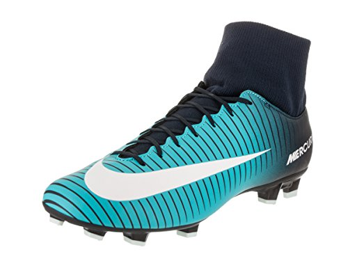 Nike Mercurial Victory VI DF FG, Scarpe da Calcio Uomo, Blu (Obsidian/Weiß-Gamma Blau), 45.5 EU