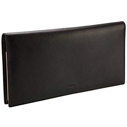 Spirit VANITY-Tür Scheckheft lang-Brieftasche Leder schwarz R6502-23x 11cm-Eingabestift