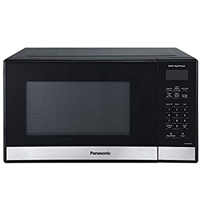 Panasonic NN-SB458S Compact Microwave Oven, 0.9 cft, Stainless Steel/Silver (Renewed)