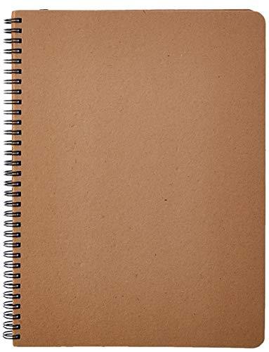 Caderno Pautado, Cicero, Wire O Kraft, 2100, Bege, 21x28