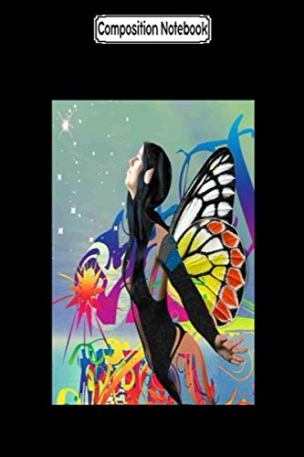 Composition Notebook: Memento Mori Butterfly Yellow Tattoos Butterflys Science Raising Notebook Journal Notebook Blank Lined Ruled 6x9 100 Pages