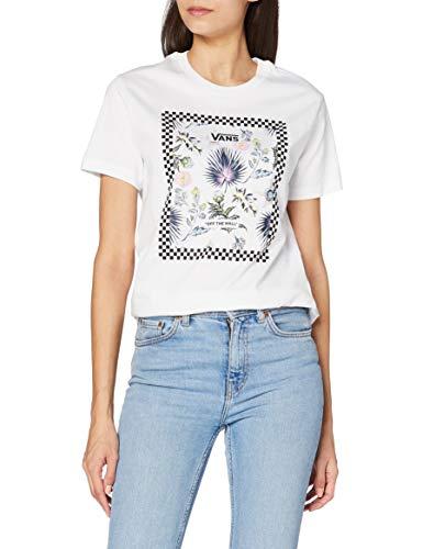 Vans Damen Border FLORAL BF T-Shirt, weiß, Small
