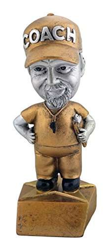 Male Soccer Coach Bobblehead Trophy