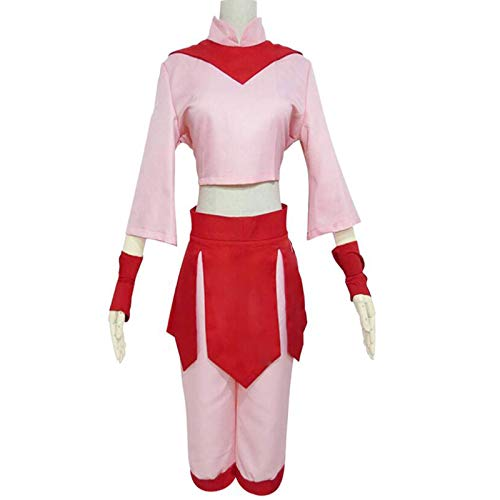 YLJXXY Avatar The Last Airbender Cosplay Disfraz Ty Lee Disfraz Cosplay para Mujer Conjunto Completo Disfraz de Carnaval de Halloween,M
