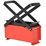 vidaXL Paper Log Briquette Maker Manual Paper Press Machine Fireplace Tool Indoor Outdoor Home Garden Newspaper Stove Black and Red Steel