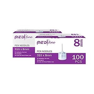 buy  MedtFine Insulin Pen Needles 31G 8mm (5/16″) ... Diabetes Care