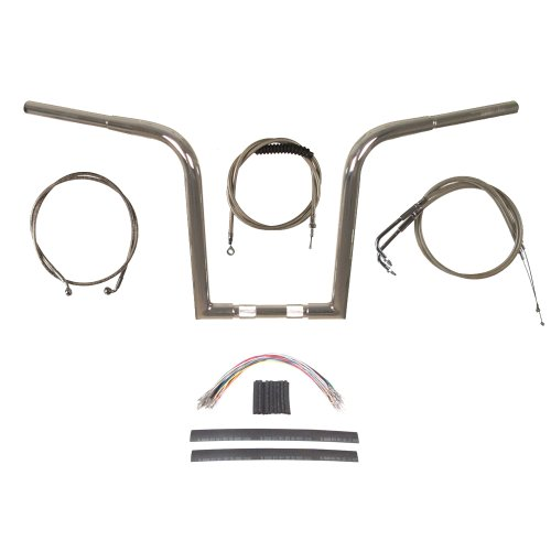 Hill Country Customs 1 1/4' Chrome Wild 1 WO614 14' Ape Hanger Kit for 2011 & Newer Harley-Davidson Softail models with ABS brakes - BSC-0601-3157-ST11-ABS