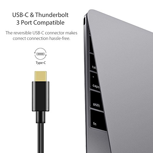 USB C auf LAN Adapter | USB C Ethernet Hub, USB Type C auf 3-Port-USB 3.0 Hub mit RJ45 Gigabit Ethernet LAN Netzwerk Adapter für MacBook, MacBook Pro, Chromebook Pixel und andere(Thunderbolt 3 Kompatibel) - 4